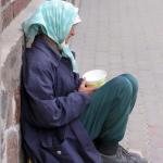 lady begging