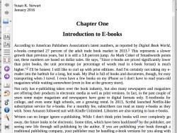 e-book formatted