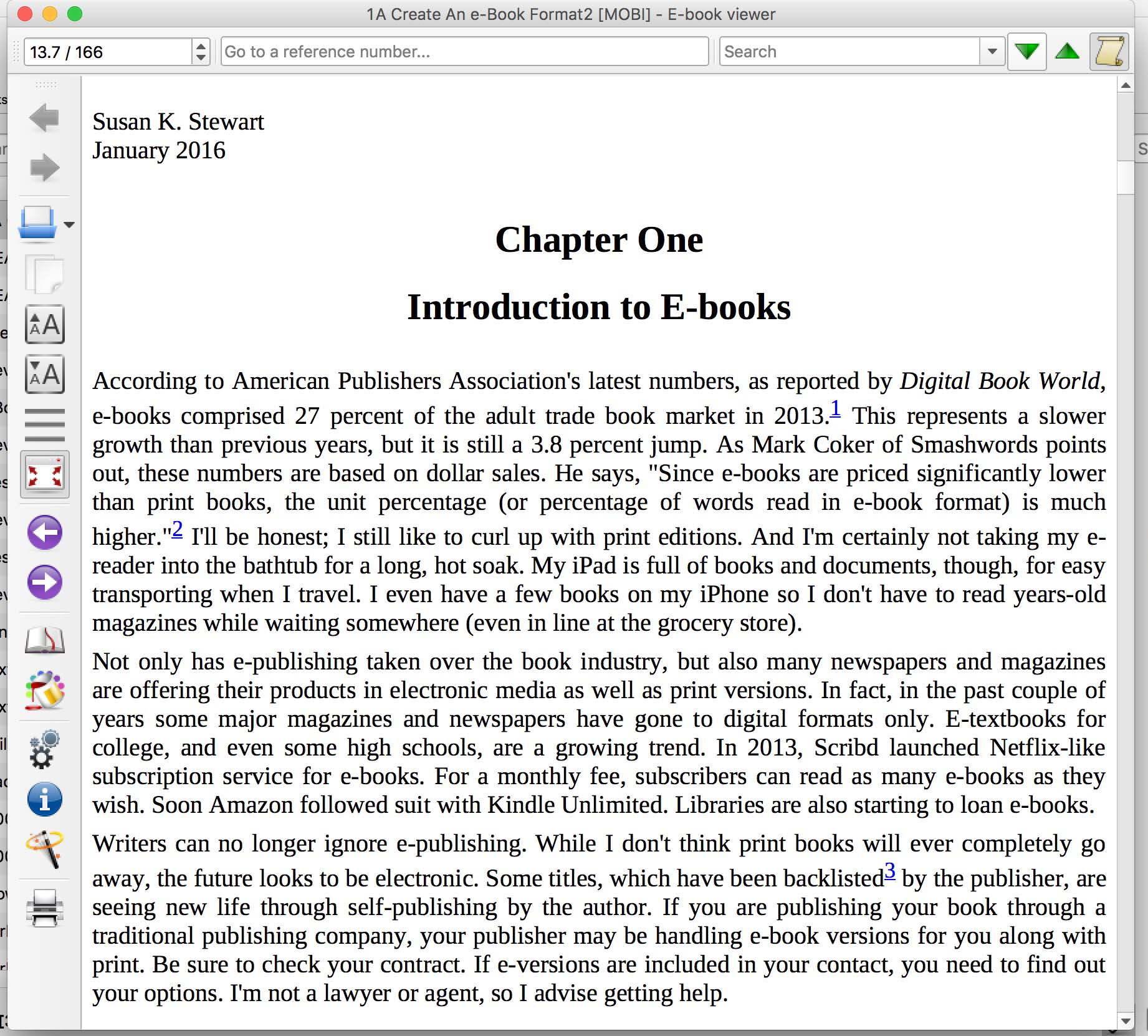 e-book formatted