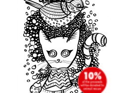 Color the Cats coloring book cover