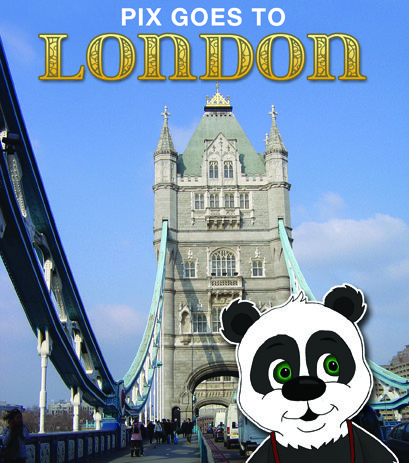 Cover of children's book Pix Goes to London