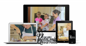 electronic devices with kids cooking