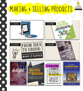 collage of products in blogging toolkit