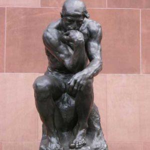 Statue thinker philosophy