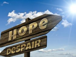 the sign directing to hope