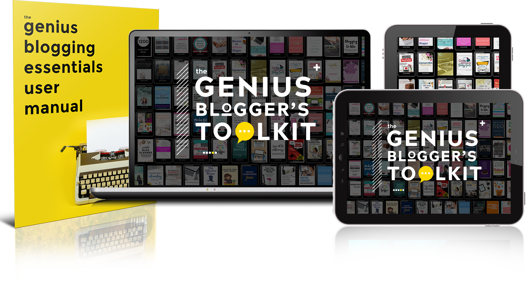 electronic reading devices with The Genius Bloggers Toolkit